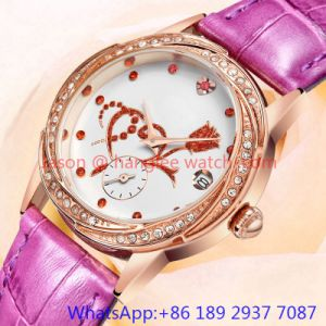 Top-Quality Alloy Luxury Watch, Genuine Leather Band (HLJA-15061) pictures & photos