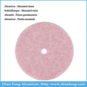 P101 Wheel Shaped Aluminum Oxide Made Pink Stone Grinding Wheel pictures & photos