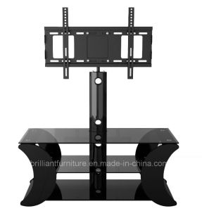 Glass+Wood Living Room Furniture TV Stand with Bracket (BR-TV495A)
