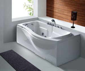 Indoor Freestanding Whirlpool/Massage/SPA Acrylic Bathtub pictures & photos