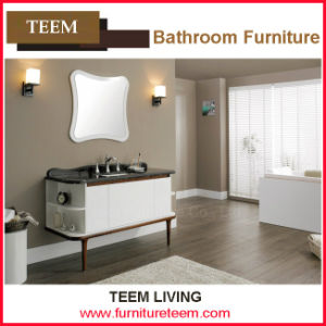 Single Basin Wall Mounted Solid Wood Mirror Cabinet pictures & photos
