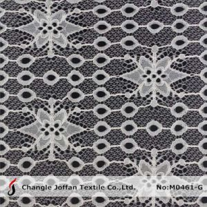 New Ivory Jacquard Lace Fabric (M0461-G) pictures & photos