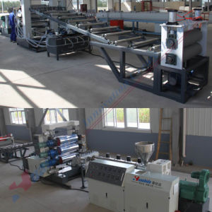 PE PP Single Layer Sheet Board Three Calender Extrusion Production Machine Line pictures & photos