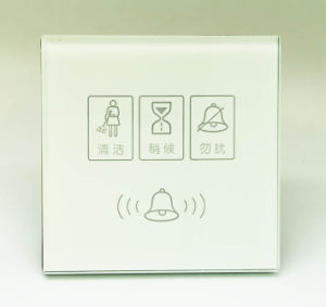 12V /220V Tempered Glass Hotel Smart System Touch out Door Service Panel