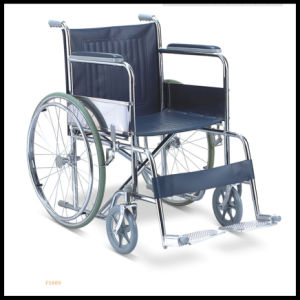 Steel Folding Wheelchair with Ce and ISO pictures & photos