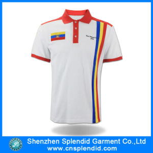 Custom Cheap High Quality White Cotton Polo T-Shirt for Man