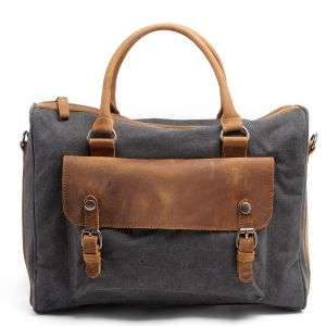 Waxed Canvas Fabric and Full Great Leather Businessman Briefcase (RS-2025F) pictures & photos