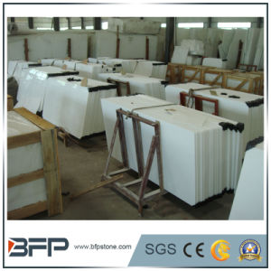 Artificial Stone Pure White Crystallized Nano Glass Slabs pictures & photos