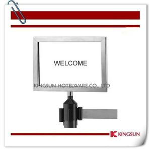 Sign Frame for Retractable Belt Stanchions pictures & photos