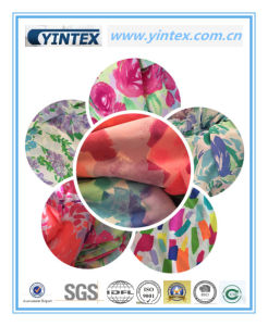 100% Poly Crepe De Chine Printed Fabric pictures & photos