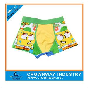 100% Cotton Cute Cartoon Print Boys Boxer Shorts Underwear pictures & photos