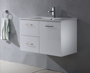 MDF UV Gloss Paintting White Wall Bathroom Cabinet pictures & photos