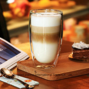 450ml Heat-Proof Double Layer Glasses Glass Coffee Cup pictures & photos