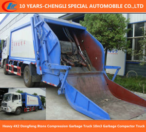 6wheels Dongfeng 8tons Compression Garbage Truck, 10m3 Garbage Compactor Truck pictures & photos