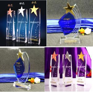 Crystal Souvenir Gift Crystal Star Trophy pictures & photos