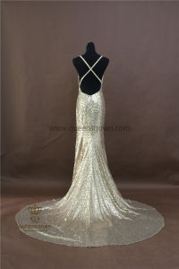 OEM Factory Custom Made Sexy Sequin Party Gown Long Evening Dresses pictures & photos