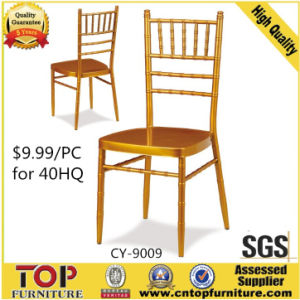 Hotel Metal Cheaper Banquet Gold Chiavari Tiffany Chair pictures & photos
