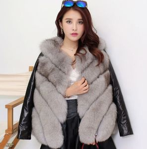 Charming Winter Natural Women Grey Fox Fur Vest pictures & photos