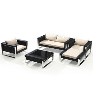 PE Rattan Sofa Set Livingroom Sofa Garden Sofa Outdoor Furniture pictures & photos