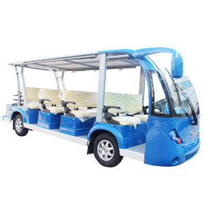 Electric Sightseeing Bus Electric Shuttle Bus with 11 Passenger pictures & photos