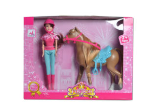 En71 Approval Kids Toy Plastic Fashion Doll with Horse (H1988010) pictures & photos