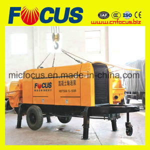 High Quality Delivery Capacity 81m3/H- 88m3/H Diesel Concrete Trailer Pump pictures & photos