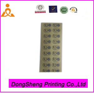 Wholesale Paper Adhesive Sticker with Customized Style for Garment