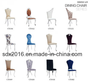 Modern Design PU Stainless Steel Banquet Dining Chair Home Furniture pictures & photos