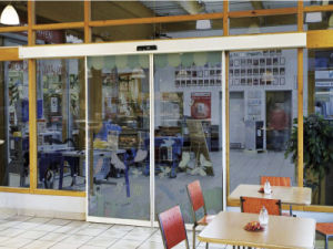 Bright Glass Automatic Sliding Door System (VZ-125) pictures & photos