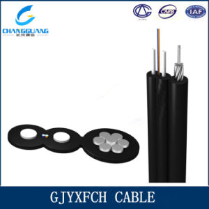 Single Mode Fiber FTTH Butterfly Messenger Wire Drop Cable pictures & photos