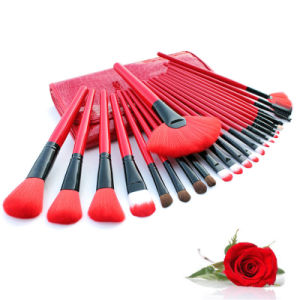 24 Cosmetic Brush Set Sexy Red Foreign Trade Explosion Makeup Brush pictures & photos