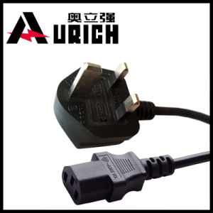 UK Type Power Plug Fused Cable Assembly 13ab Lead