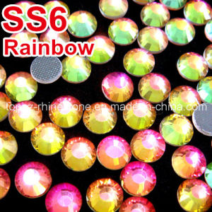 Customized Hot Fix Rhinestone DMC for Dress (SS16 Rainbow/3A grade) pictures & photos