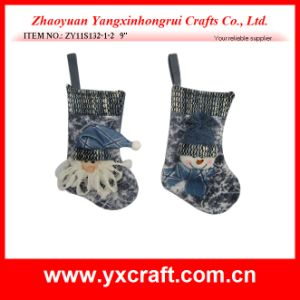 Christmas Decoration (ZY11S132-1-2) Christmas Color Sock New Sock Design pictures & photos