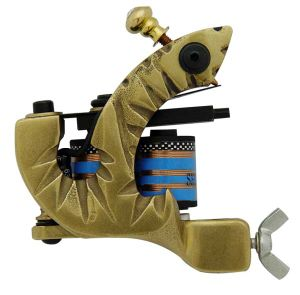 Wholesale Brass 10 Wrap Coil Tattoo Machine Gun T-6 pictures & photos