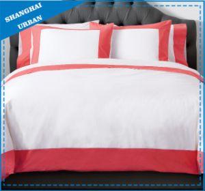 Rose Color Wide Border Cotton Bedsheet Set pictures & photos