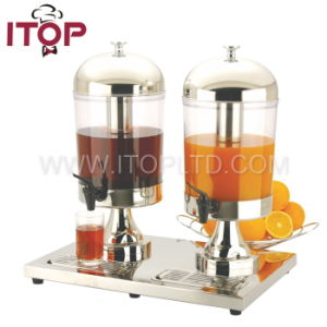 Newly Stainless Steel Double Head Juice Dispenser (JDPX2-1) pictures & photos
