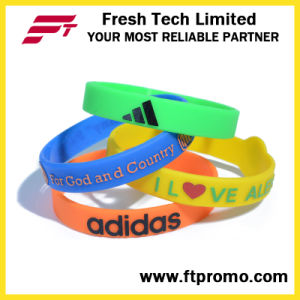 Silicone Bracelet OEM Promotion Colourful Silicone Wristband pictures & photos
