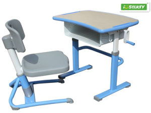 Istudy Cheap But Durable School Project Height Adjustable Student Table Hya-105 pictures & photos