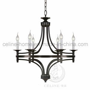 Matte Black Iron Metal Pendants Lamp with 6 LED Light Bulb (SL2197-6H) pictures & photos