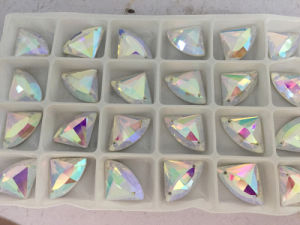 Crystal Abdiamond Shape Flat Back Beads with Holes pictures & photos