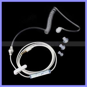 Single Radiation Protection Air Coil Earphone Headset Headphones with Spring Retractable Cable for Mobile pictures & photos