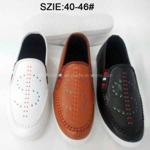 Latest Fashion Men′s Slip on Injection Casual Leather Shoes (MP16721-24) pictures & photos
