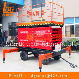 High Quality Manual Mobile Hydraulic Scissor Lift 500kg (SJY0.5-14) pictures & photos