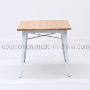 Square Metal Frame Furniture Table for Cafeteria Restaurant with Woodentable Top (SP-CT675A) pictures & photos
