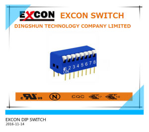 Excon Rpl-08-B DIP Switch with Golden-Plating Terminal pictures & photos