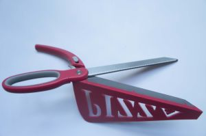 Pizza Scissors, Detachable Stainless Steel Pizza Cutter Spring Scissors Shovel with Spatula and Safety Removable Switch Red pictures & photos