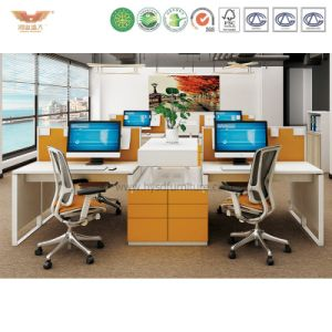 2017 Modern Computer Table Office Furniture for Green Office Screen U Shape Workstation System Combination Partition with Fsc Certified Approved by SGS pictures & photos