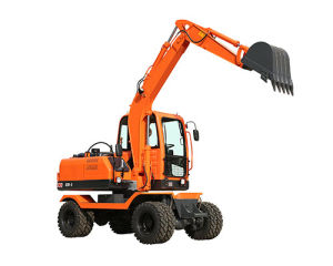 China Cheap Price 7ton Wheeled Excavator Digging Machine pictures & photos