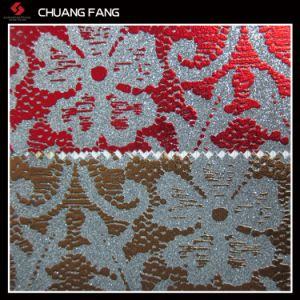 PU Glitter Leather for Decoration pictures & photos